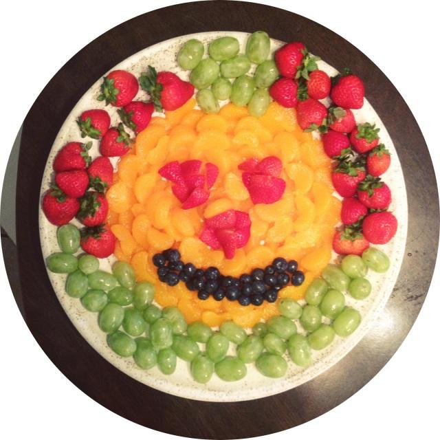 Pumpkin Fruit Plate
