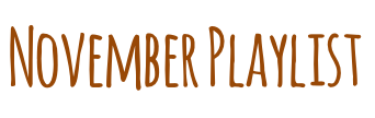 Novemberplaylisttext